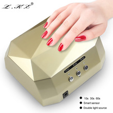 LKE 36W Nail Dryer Diamond CCFL+LED UV Lamp Curing All UV Nail Varnish Gel Polish Manicure Makeup Nail Art Tools Nails Lamp