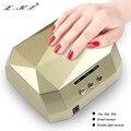 Lke nueva profesión original máquina secador de uñas 24 w luz blanca 405 + 365nm LED de La Lámpara UV Para uñas de Gel UV LED Gel de Herramientas Del Arte Del Clavo