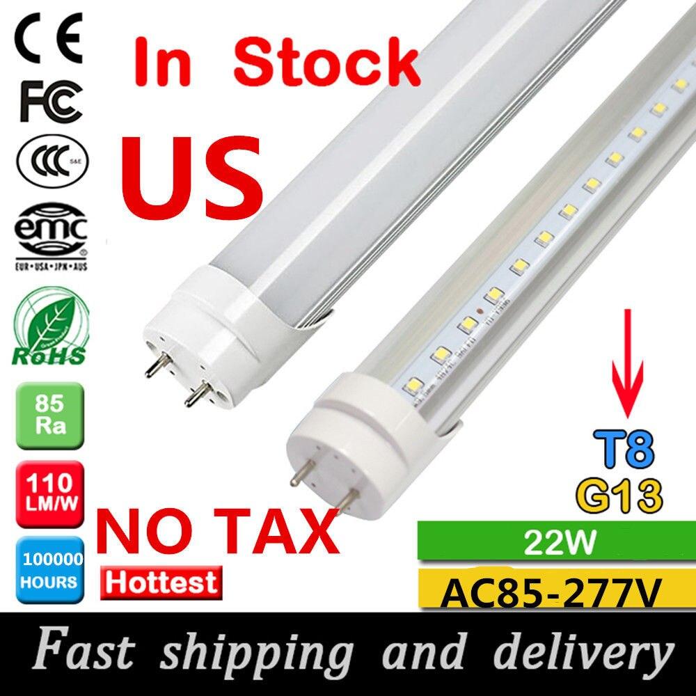 25//10Pcs 4ft T8 LED Tube Bulb Light 18W 6500K Cood White 110V Clear Cover Lamp