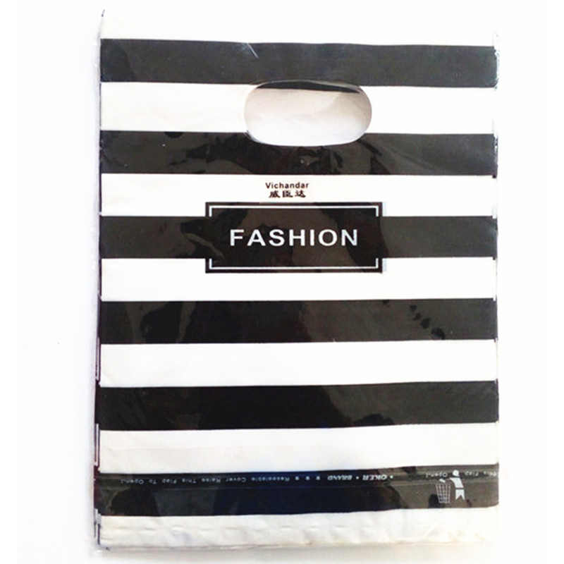 10pcs 20x26cm Big Plastic Bag Shops Clothes Gift Bags With Handles Wedding Birthday Party Supplies Gift Bags Cookies Storage Bag in Gift Bags Wrapping Supplies from Home Garden