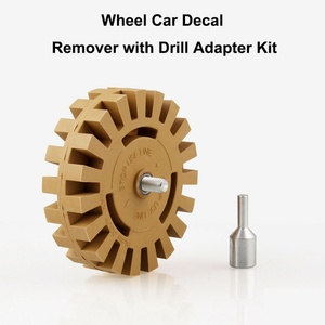 Image 5 - 4 Inch Rubber Eraser Wheel Graphics Removal Tool Strip Off Wheels  Pinstripe Double Sided Adhesive Vinyl Decal