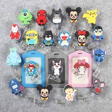 Cartoon Badge Scroll Nurse Office Reel CuteGirl Character Scalable School Student Exhibition PU Business Card Holder