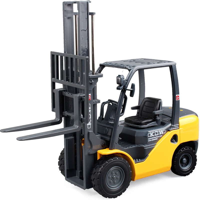 Alloy Diecast 1:20 Forklift Diecast Model Two-Position Mast Raises And Lowers Simulated Light Forklift Model Toy Children Gifts