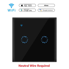 Hyleton Wifi switch Wireless Intelligence Wall Switches Remote Control Via APP/Voice Work with Alexa Google Home Light Switch