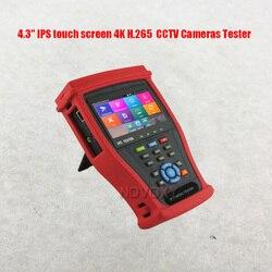 Бесплатная доставка, 4,3-дюймовый IPS сенсорный экран 4K H.265, все виды камер видеонаблюдения, тестер