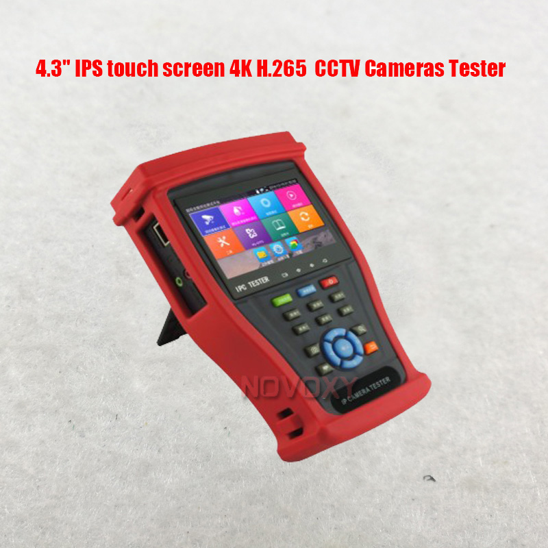 """Free Shiping 4.3"""" IPS Touch Screen 4K H.265 All Kinds Of CCTV Cameras Tester"""