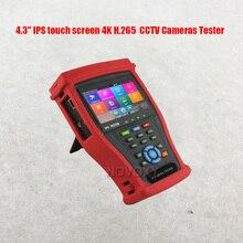 Бесплатная доставка, 4,3 дюймовый сенсорный экран IPS 4K H.265, все виды камер видеонаблюдения, тестер