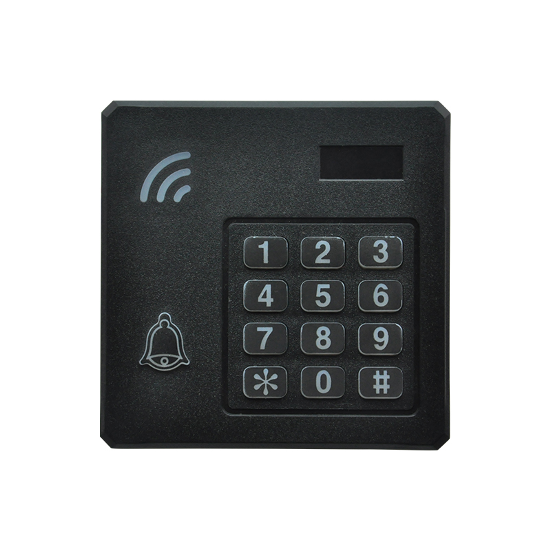 Keypad access control card reader matched with Wiegand 26 output 125khz EM ID chip card 5pcs lot free shipping outdoor 125khz em id weigand 26 proximity access control rfid card reader with two led lights