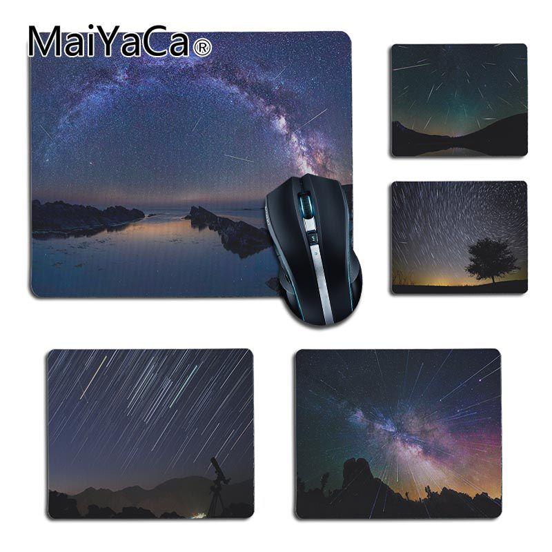 MaiYaCa высокое качество стремительный осадков метеорный поток геймер Скорость мыши розничной резиновый коврик Size25X29cm 18x22 см игровой коврик