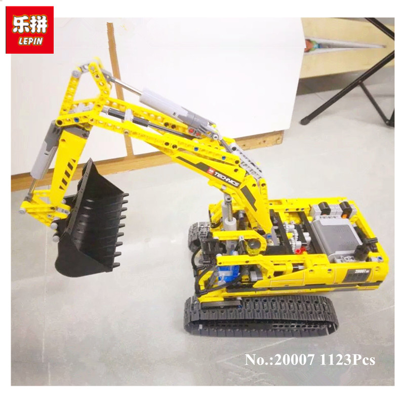 LEPIN 20007 technic series 1123pcs excavator Model Building blocks Bricks Compatible Toy Christmas Gift 8043 Educational Car диск отрезной алмазный турбо 125х22 2mm 20007 ottom 125x22 2mm