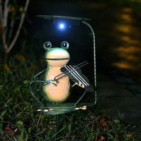 Solar Panel LED Light Landscape Outdoor Garden Path Lawn lamp Frog Prince Playing A Violin Solar Decoratoin Lights Luminaria
