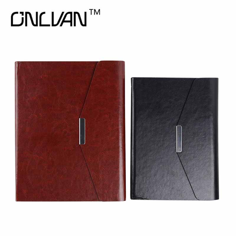ONLVAN Leather Cover Business Office Luxury Notebook 2018 Spiral Diary Monthly Planner Agenda Journal Paper Stationery Organizer high quality pu cover a5 notebook journal buckle loose leaf planner diary business buckle notebook business office school gift