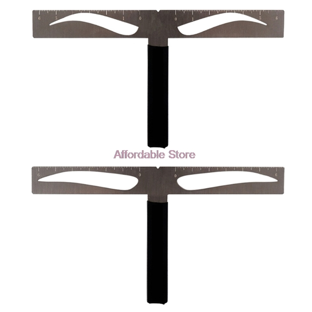 Facial T-shape Area Makeup Mold Standard Eyebrow Ruler Eyebrow Tattoo Accessories Keeping Symmetry Balance For Classic Brow