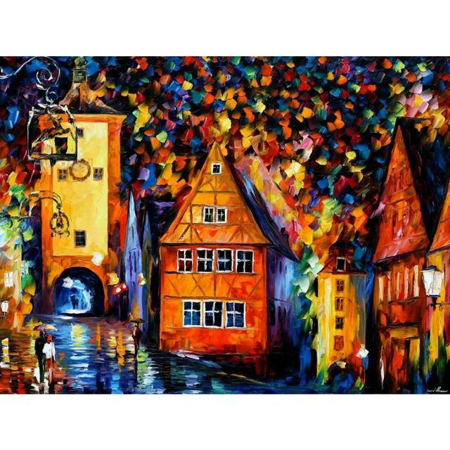 Assez Paysage peinture À L'huile photos allemagne médiévale rothenburg  VB12