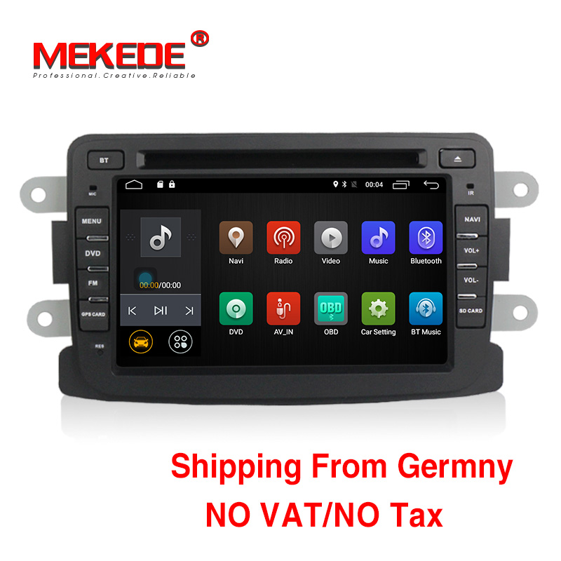 Quad Core Pure Android7 1 GPS Navigator Radio For Dacia Renault Duster Logan Sandero Car DVD