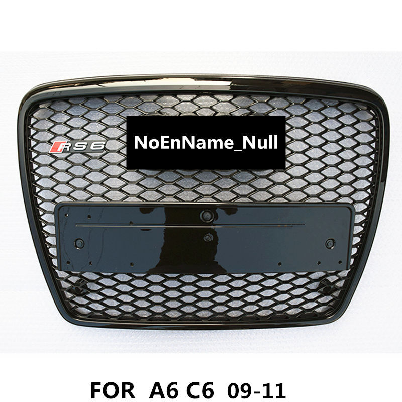 NoEnName_Null RS6 Style Black Painted ABS Honey Styling Front Mesh Grill Grille for Audi A6 S6 RS6 S-line 2009-2011 жидкость maxwells black honey 0мг 30мл