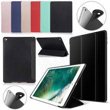 "Caso Para Apple iPad ª 9.7 ""2018 A1893 A1954 Inteligente Caso Capa de couro PU Ultra Slim Fit peso Leve Caso Emborrachado"