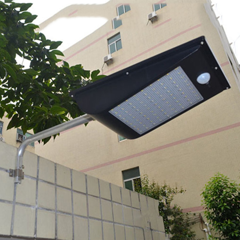 81 led solar street light 1000lm waterproof pir motion sensor solar power wall light outdoor. Black Bedroom Furniture Sets. Home Design Ideas