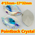 Crystal AB Color Navette Glass Crystal Fancy Stone 5*10,7*15mm,9*18mm,13*27,4*15mm,17*32mm Marquise Horse Eye Crystals