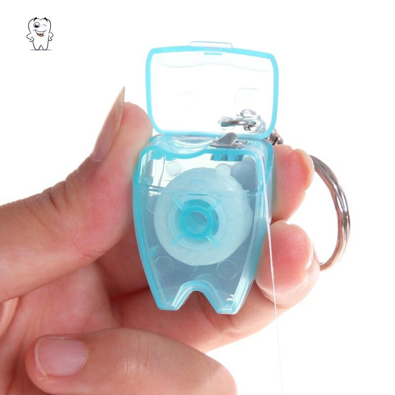 50 шт./лот зубная нить для ключей, портативный, 15 метров, мятный воск, нейлоновая проволока, зубная нить, зубная нить, стоматолог, OEM Подарки