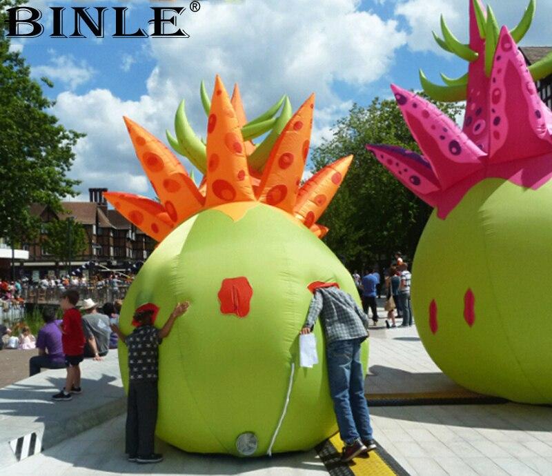 Modèle gonflable adapté aux besoins du client de fruit de dragon de pitaya de jardin interactif artificiel de 5 m 16ft pour la publicité promotionnelle