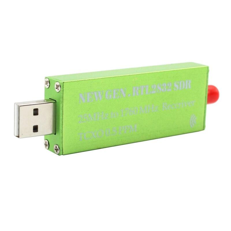 Nouveau Premium USB RTL-SDR Radio Récepteur RTL2832 ADC Puce 0.5 PPM TCXO, SMA F Connecteur SMA Antenne