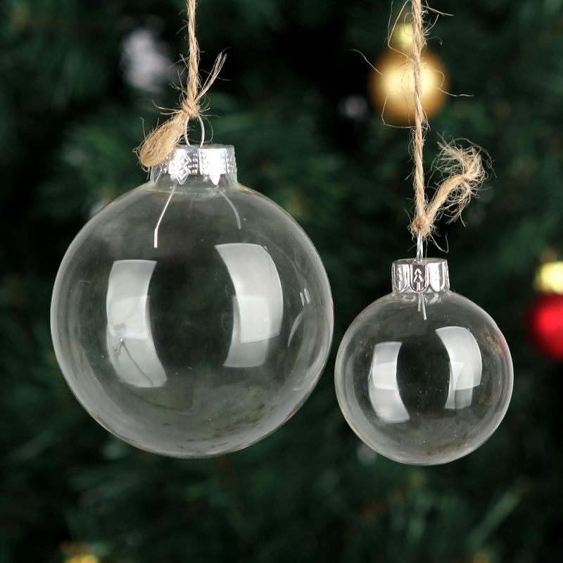 Aliexpress.com : Buy 12 x Dia2cm Clear Glass Balls Xmas Christmas ...