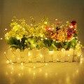 Luz De Navidad Led 2 M 20 LEDs Con Pilas Mini LED Luces de Hadas de la Secuencia del Alambre de Cobre Para La Boda de Navidad Garland partido