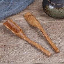 Совок Чай Кофе Чай листья Chooser держатель китайский бамбуковый Мёд соус ложка-Лопатка порошок маття(матча) ложка, совок инструмент