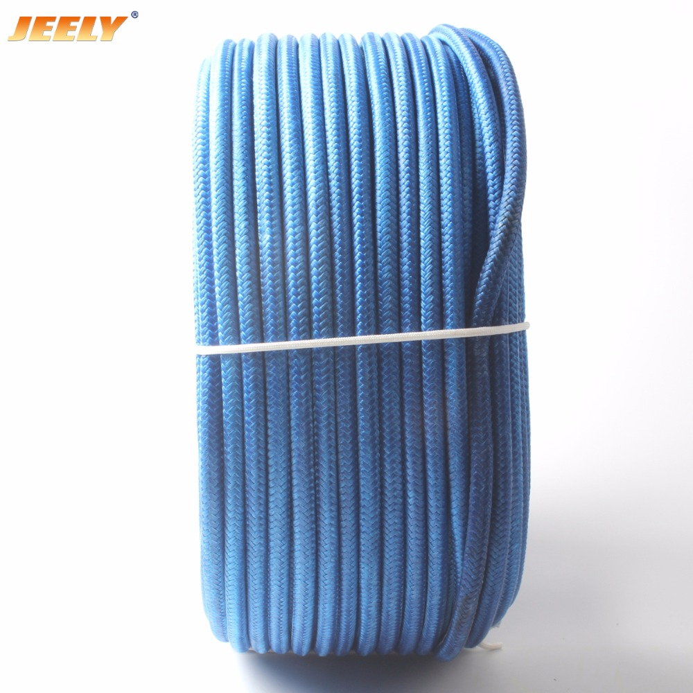 Free Shipping 300m 10mm UHMWPE Fiber Core with Polyester Jacket Anchor Towing Rope Winch Rope monton 1019 ultrathin cycling polyester fiber jacket black size s