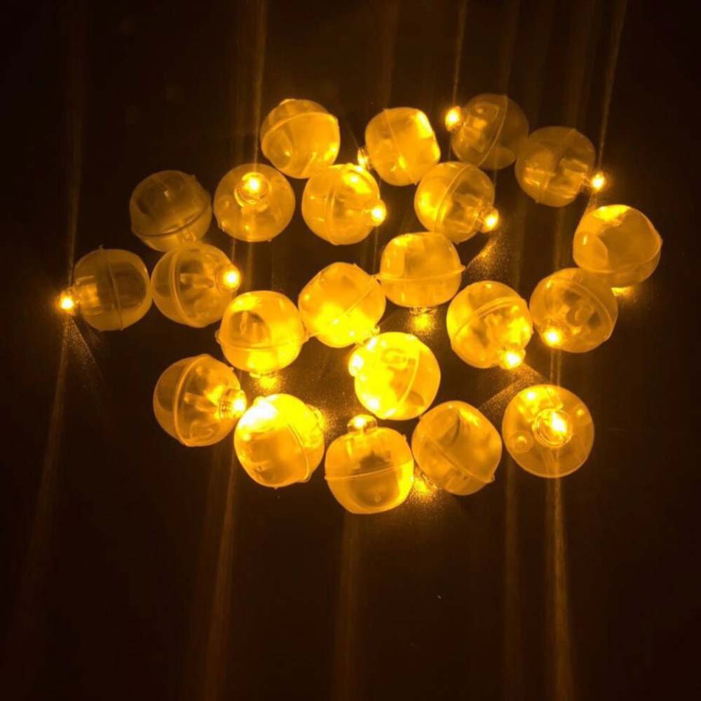 50pcs LED Mini Plastic Round Ball Balloon Light For Paper Lantern Balloon Party Wedding Birthday Festival Decoration Party Lamps
