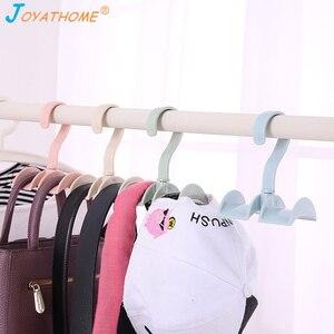 Image 3 - Joyathome استدارة التخزين رف حقيبة شماعات لا لكمة الملابس البلاستيك الرف الإبداعية التعادل معطف خزانة شماعات خزانة المنظم