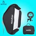 Godox Softbox de Flash Ajustável 80 cm * 80 cm + Suporte tipo S Kit de Montagem para o Flash Speedlite Estúdio Tiro