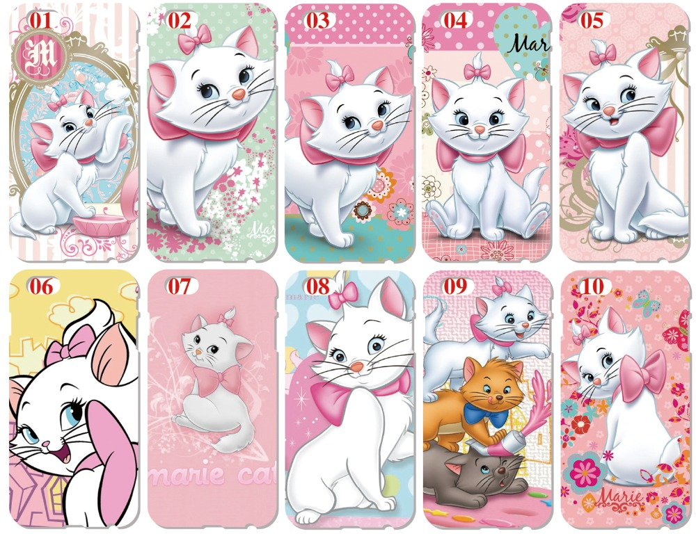 Marie Cat Shell Cover For iphone 10 X 4 4S 5 5S SE 5C 6 6S 7 8 Plus For iPod Touch 5 6 Phone Case Coque Fundas Bumper Capa