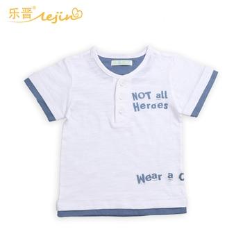 LeJin Children Boys Clothing T Shirts Boy T Shirt Kids Tops Summer Wear in 100% Cotton Slubbed Fabric