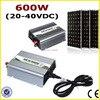 600W Grid Tie Inverter 120V Or 230VAC Pure Sine Wave Inverter 24V Panel 48 Cells With