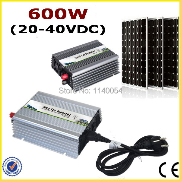 600w New Micro Grid Tie Inverter For Solar Home Use System MPPT Function DC 24V/30V to AC 110V/220V Pure Sine Wave Inverter 500w micro grid tie inverter for solar home system mppt function grid tie power inverter 500w 22 60v