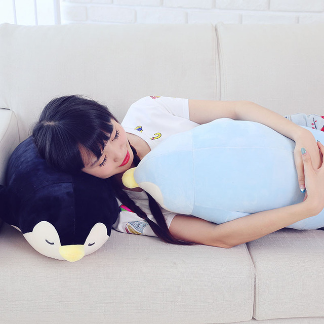 35-70cm 2018 New Style Stuffed Soft comfy Plush Penguin Plush Toys animals doll Sleep pillow Cushion Christmas kids doll 1