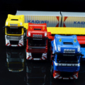 Classic aleación del coche de Ingeniería de vehículos de transporte de contenedores camión Modelo de coche Diecast Juguetes Para El Regalo de Navidad regalo de cumpleaños