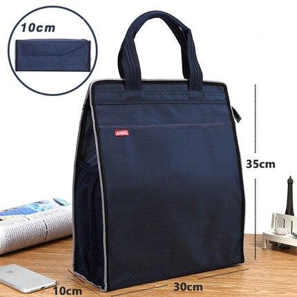 New A4 Office Briefcases for Men Women Waterproof Lightweight Messenger Bag Students File Storage Bag Handbag Briefcases 1466
