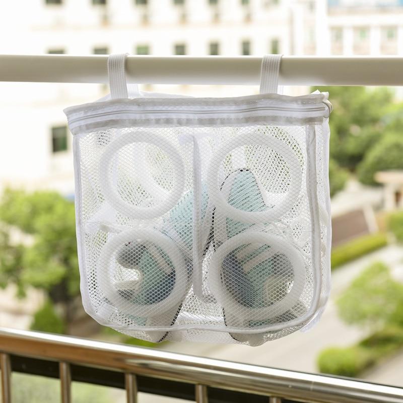 1pc Mesh Laundry Shoes Bags Dry Shoe Organizer Portable Laundry Washing Bag Storage Collection Dry Mesh Bag Organizer