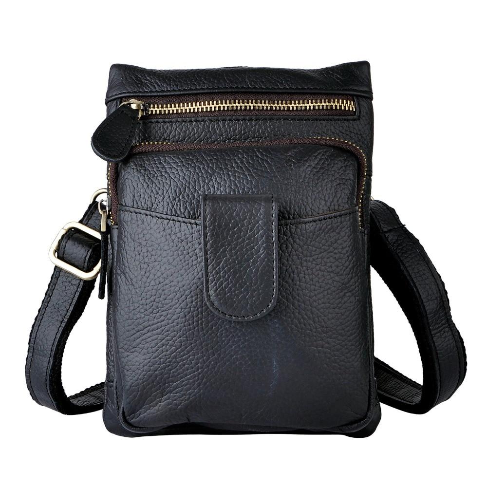 Original Leather Men Casual Fashion Mochila Crossbody Messenger Bag Designer Male Waist Belt Pack Phone Tablets Case Pouch 6549b