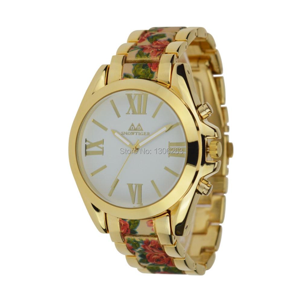 2016 Nowa znana marka złota Casual Genewa Zegarek kwarcowy kobiety - Męskie zegarki - Zdjęcie 2
