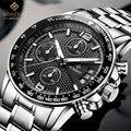 Watch Brand WISHDOIT Quartz Watch Men Steel Fashion Clock Male Waterproof Watches With Complete Calendar fashion masculino uhr