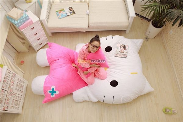 Fancytrader 200cm X 150cm Soft Lovely Huge Giant Pink Hello Kitty Double Bed Carpet Sofa, FT50313 (10)