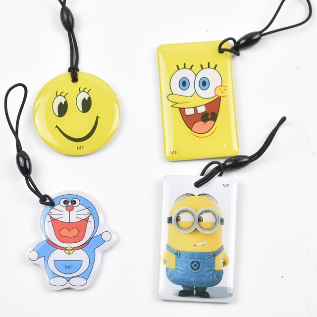 6pcs/lot  UID Changeable Card Small Pendant NFC Keychain 13.56MHz ISO14443A Block 0 Writable MF1 1K S50 Standard support