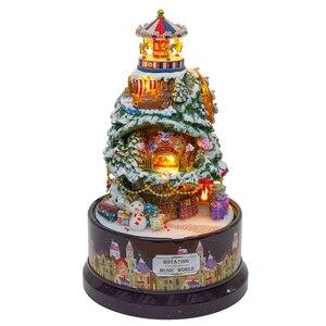 Image 5 - Leuke Kamer DIY Poppenhuis Miniaturen Doll Huis Stofkap Met Meubels Miniatuur Houten Huis Model Speelgoed Voor Kinderen B030 # E