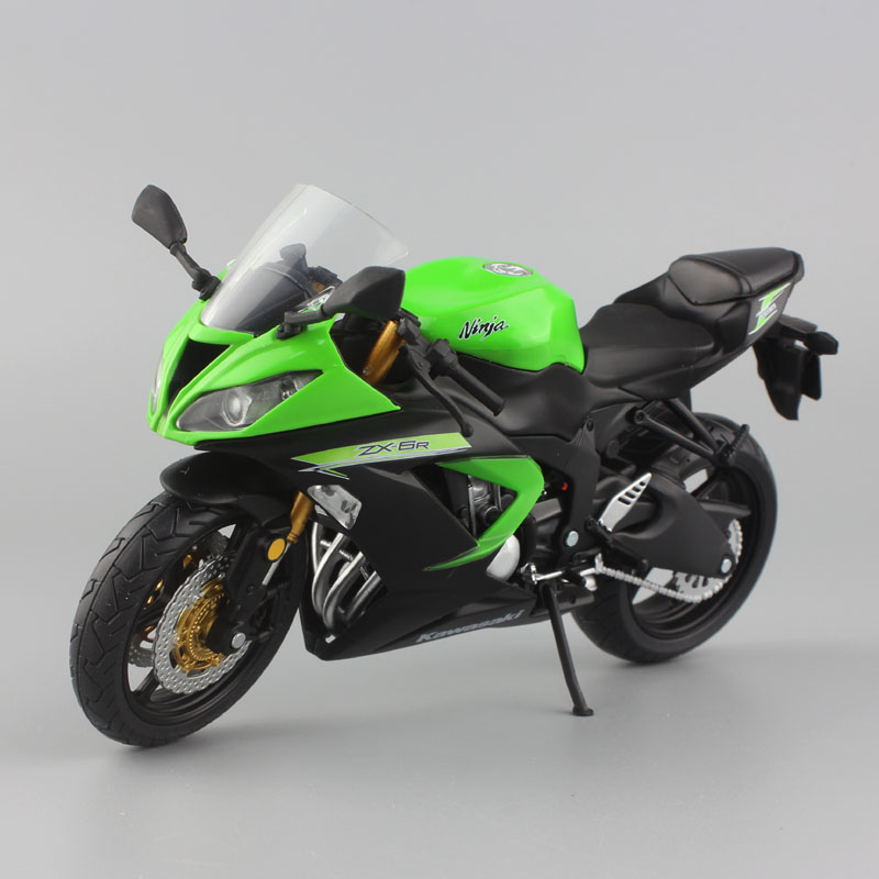 1:12 scale mini Kawasaki Ninja ZX-6R Sport bike metal Motorcycle diecast sport road racing model collection car toy for children цена 2017