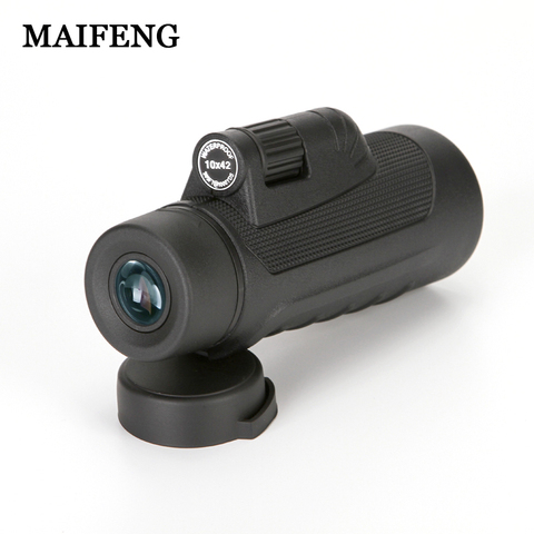 New Arrival Protable Waterproof 10X42 HD Monocular Telescope High Power Spotting Scope Outdoor Binoculars for Hunting Free ship Karachi