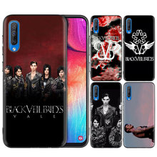Black Silicone Case Bag Cover for Samsung Galaxy M10 M20 M30 S8 S9 S10 S10e 5G J3 J4 J5 J8 Plus 2018 S7 Edge Veil Brides BVB(China)
